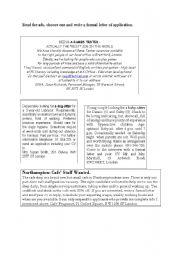 English Worksheets: Job advertisements