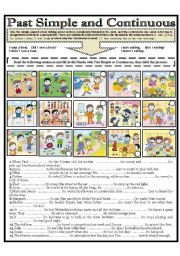 English Worksheet: PAST SIMPLE AND CONTINUOUS