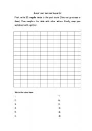English worksheets create your own wordsearch for Create your own word search template