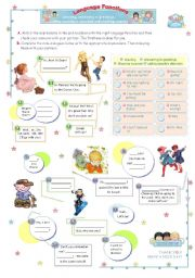 English Worksheets: Mini - Dialogues Series (1)  - Language Functions: greeting, answering, showing surprise and calling attention