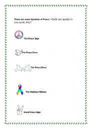 English Worksheets: Peace sympols