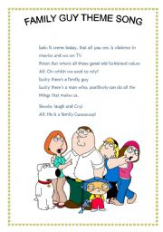 English worksheet: Family guy theme song