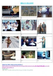 English Worksheet: Billy Elliot : What was billy doing?