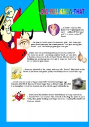 English Worksheets: DID YOU KNOW THAT...?