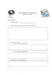 English Worksheets: I�m Making a Movie !