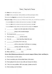 There Their And They Re Esl Worksheet By Rebeccaslagle