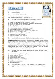 English Worksheets: Video Session - Notting Hill