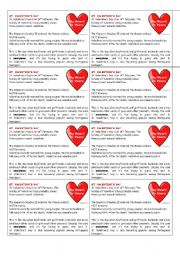 English Worksheet: the origins of Valentine´s Day (print, cut and hand it to students)