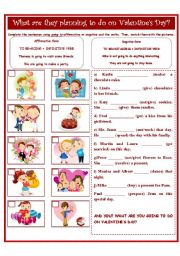 English Worksheets: VALENTINE´S DAY- GOING TO
