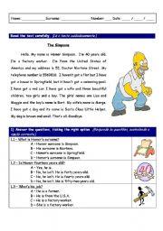 English Worksheets: American evaluation worksheet look-alike - part 1 of 3