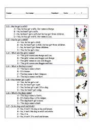 English Worksheets: American evaluation worksheet look-alike - part 2 of 3