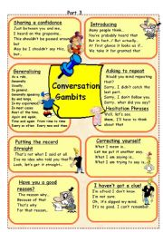 English Worksheet: Conversation Gambits 3 (out of 3)