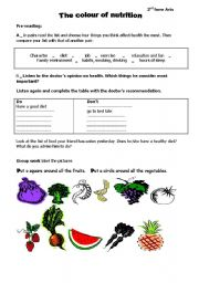 Worksheets Nutrition Worksheets english teaching worksheets nutrition nutrition