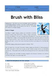 English Worksheet: extreme sports test - version 1