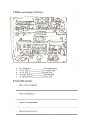 English worksheet: places in a town