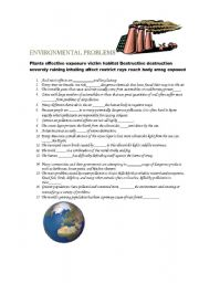environment protection esl worksheet by diana pavlenko. Black Bedroom Furniture Sets. Home Design Ideas