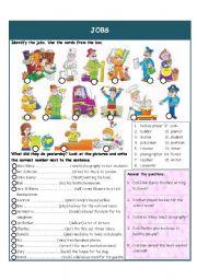 English Worksheet: Jobs - Pas Simple