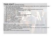 English Worksheets: TWILIGHT 40 FIRST MINUTES