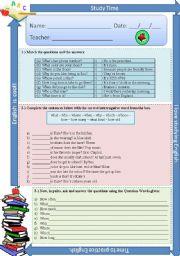 Interrogative  adjectives, pronouns and adverbs - exercises