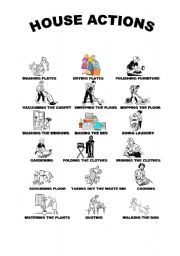English Worksheets: House actions