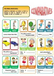 English Worksheet: COMPARATIVES