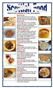 (set 3/8)SCOTTISH FOOD