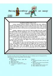 English Worksheet: reading about cowboys