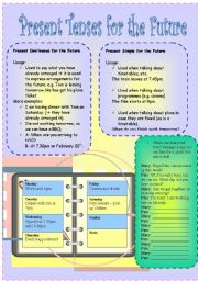 English Worksheet: Present Simple and Present Continuous for the Future