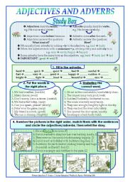 English Worksheet: Adjectives and adverbs