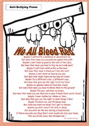 Anti Bullying Acrostic Poem