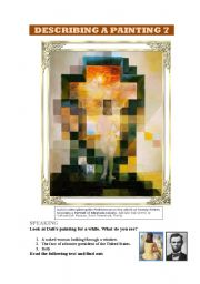 DESCRIBING A PAINTING 7 (DALÍ): SPEAKING AND READING. 2 PAGES +ANSWER KEY