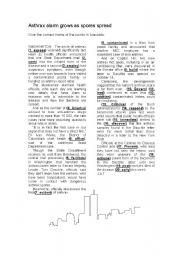 English Worksheets: Anthrax - Forming Nouns