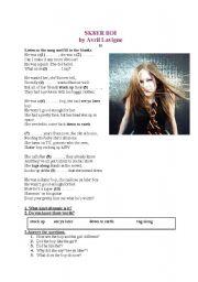 English Worksheets: SK8ER BOI by Avril Lavigne