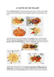 English Worksheet: A Taste of Hungary