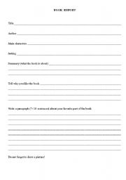 book report in english for elementary Free reading comprehension worksheets, vocabulary worksheets, book report forms, and other reading worksheets.