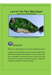 English Worksheet: LOrd of the Flies Webquest
