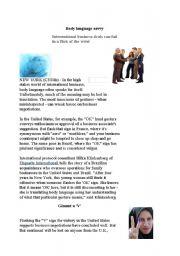 English Worksheets: Body Language in International Business