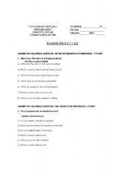 English worksheet: Likes and dislikes-Test