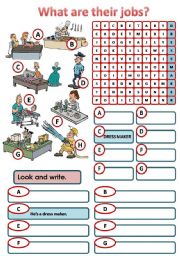 English Worksheets: JOBS