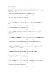 English Worksheets: Error identification practice questions