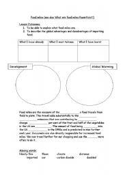 English worksheets: Food Miles