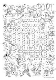 English Worksheet: Sport Crossword