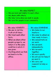 English Worksheets: Code of conduct