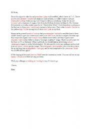English Worksheet: Personal letter with false cognates (German)