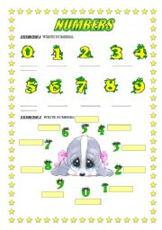 NUMBER 2PAGES WITH EXERCISES FOR CHILDREN - ESL worksheet by ...