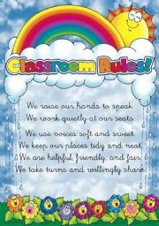 English Worksheets: Classroom rules poster