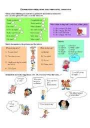 English Worksheet: Expressing feelings and personal opinions