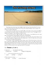 English Worksheets: The moving stones