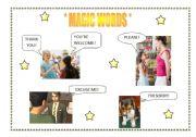 English Worksheets: FLASH CARD - MAGIC WORDS