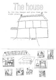 English Worksheet: the parts of the house